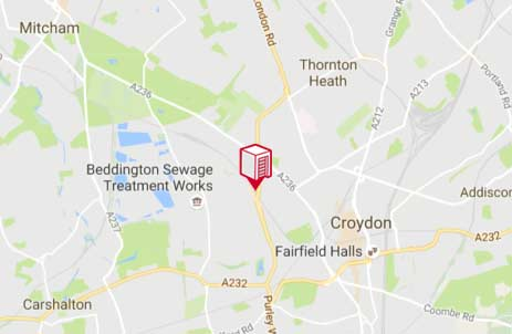 Location of Shurgard Croydon Purley Way
