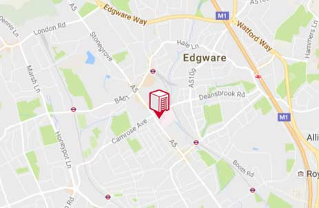 Location of Shurgard Edgware