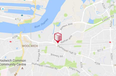 Location of Shurgard Woolwich
