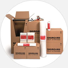 Shurgard has supplies to make packing and moving easier