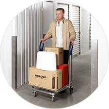 Moving your belongings into your storage unit